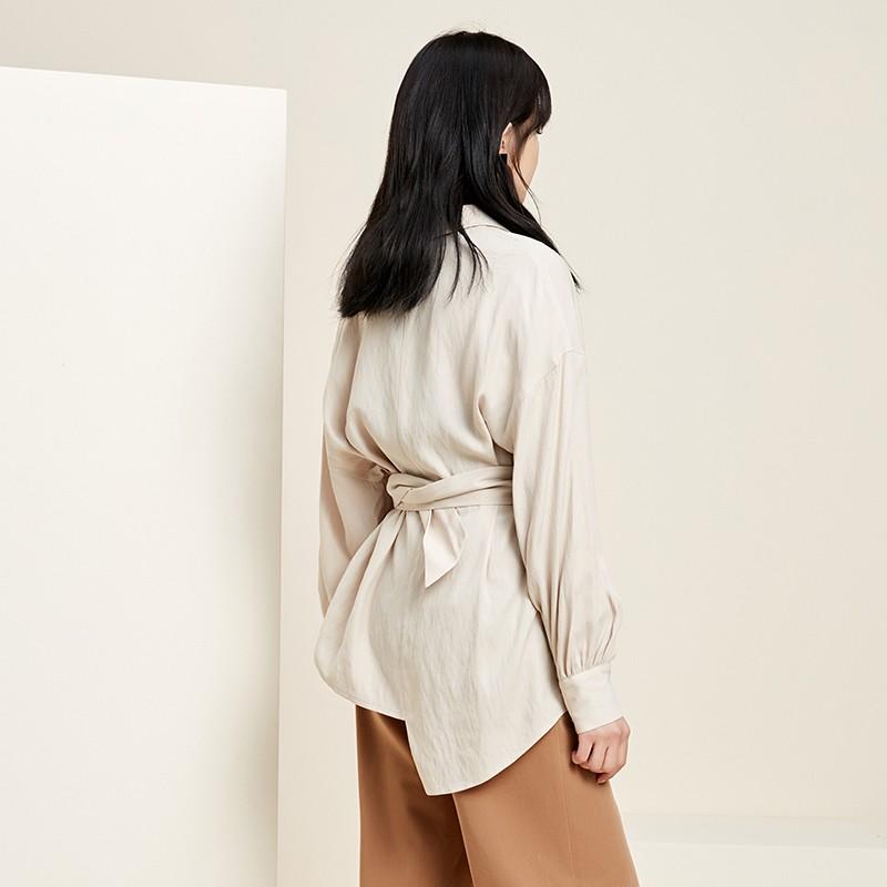 金苑衬衣女2020春装新款长袖宽松韩版上衣职业雪纺衬衫女A2019076
