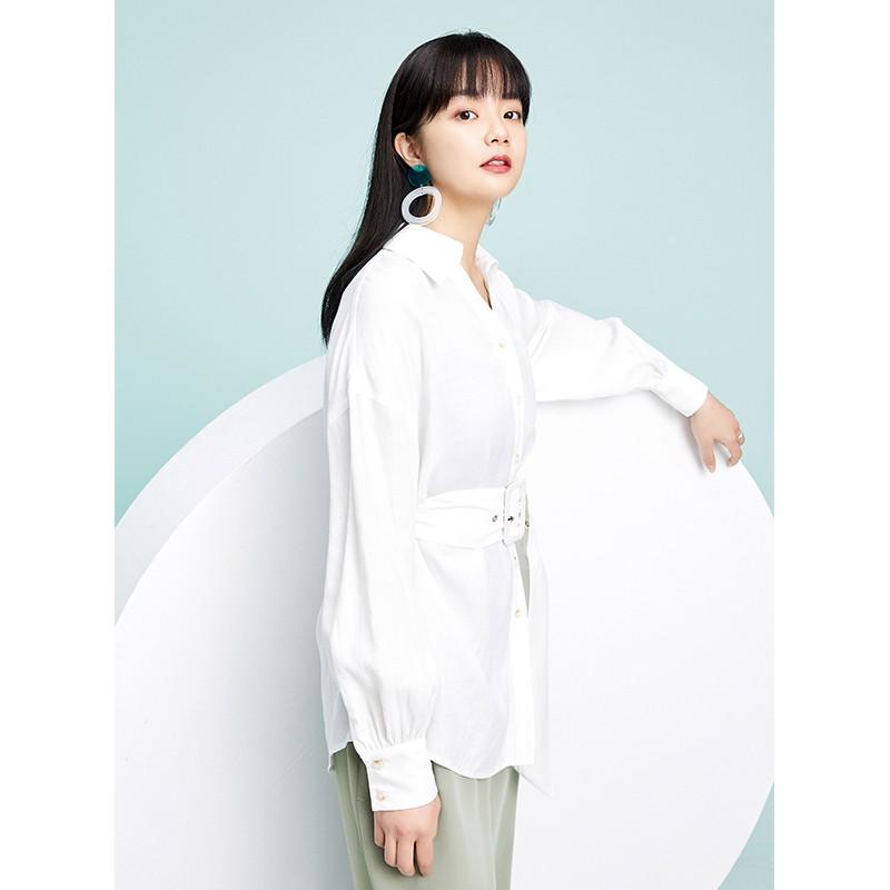 金苑衬衣女2020春装新款长袖宽松韩版上衣职业雪纺衬衫女A2019074
