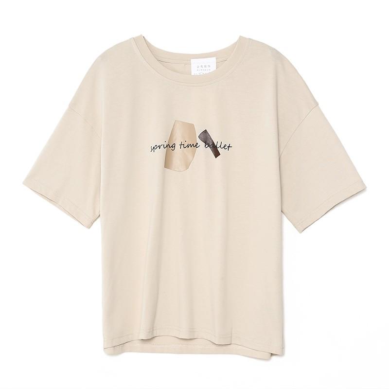 金苑2020春夏新款纯棉短袖T恤女宽松韩版圆领女上衣打底衫F20110712
