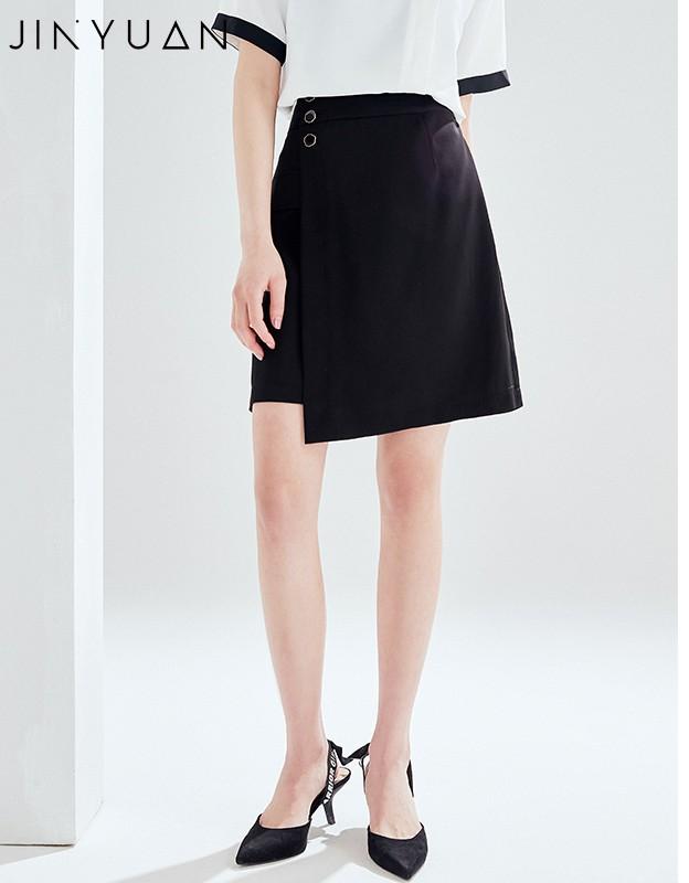 金苑2020夏新款高腰半身裙纯色职业短裙显瘦气质韩版a字裙B2021057