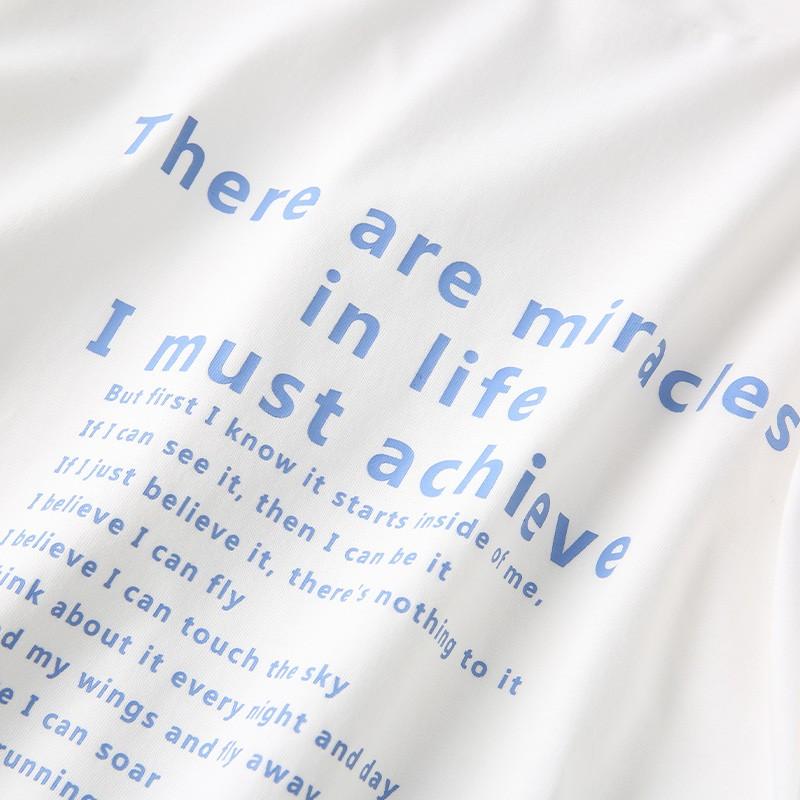 金苑短袖T恤女2020夏季亲肤纯棉打底衫宽松印花透气上衣女F2021066