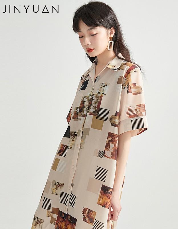 金苑正品女装衬衫复古港味女新款韩版宽松潮洋气上衣A2021077