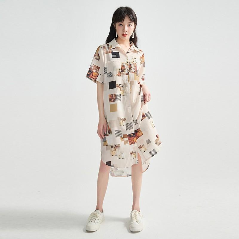 金苑正品女装衬衫复古港味女新款韩版宽松潮洋气上衣A2021072
