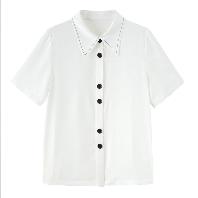 金苑正品女衬衫夏季新款女装通勤韩版显瘦上衣女OL气质仙A2021096