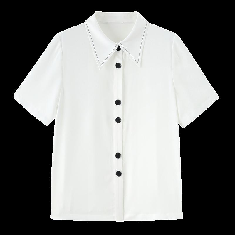 金苑正品女衬衫夏季新款女装通勤韩版显瘦上衣女OL气质仙A2021098